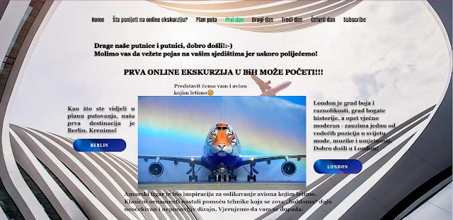 PRVI DAN ONLINE EKSKURZIJE - PRIDRUŽITE SE!