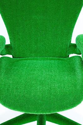 astroturf covered aeron chair