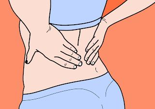 هل التبويض يسبب ألم في الظهر