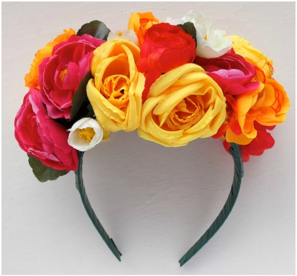 tiara headband frida kahlo flores