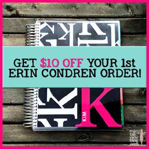 Save $10 on your first Erin Condren order!