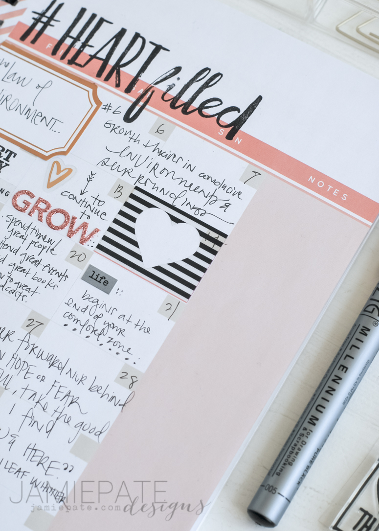 Create a growth journal that includes a creative exercise. @jamiepate