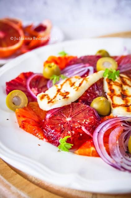 Sycylijska sałatka z pomarańczy - sicilian blood orange salad