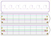 entrainement à l'écriture attachée avec ligne Seyès en couleur