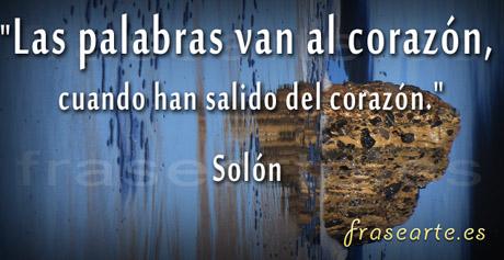 Palabras de amor, citas de Solón
