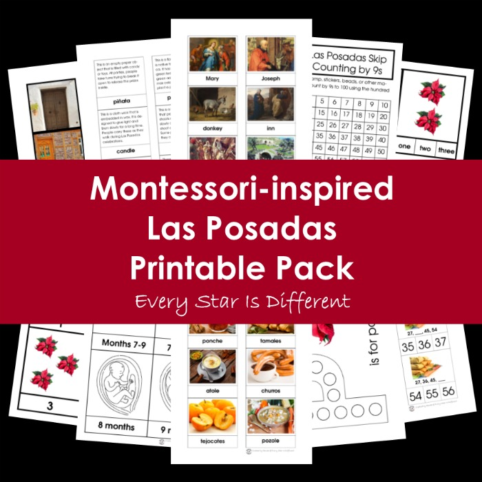 Montessori-inspired Las Posadas Printable Pack