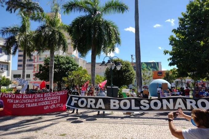 Ato contra Bolsonaro em Juazeiro do Norte é encerrado após tensão com policiais