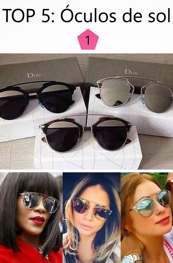 Esse Dior So Real está fazendo o maior sucesso nesse verão. Com várias  opções de cores, os espelhados foram os que fizeram sucesso com as famosas. 4935d6cad278