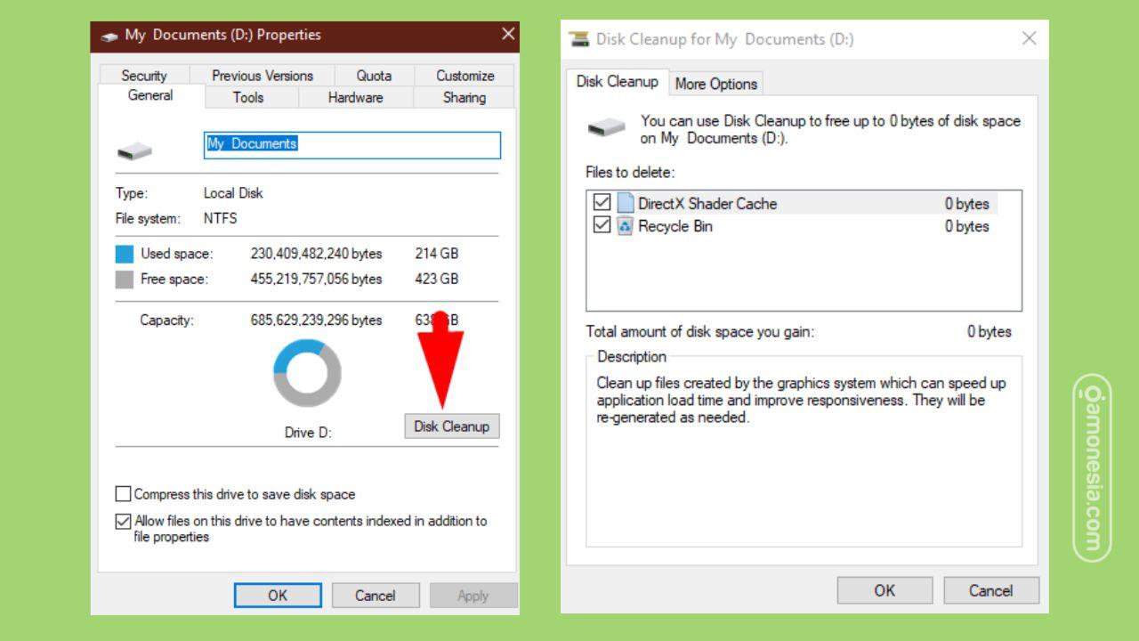 cara membersihkan junk file windows