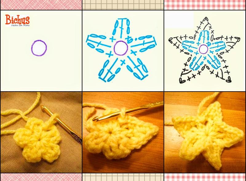 patron gratis estrella de crochet ganchillo