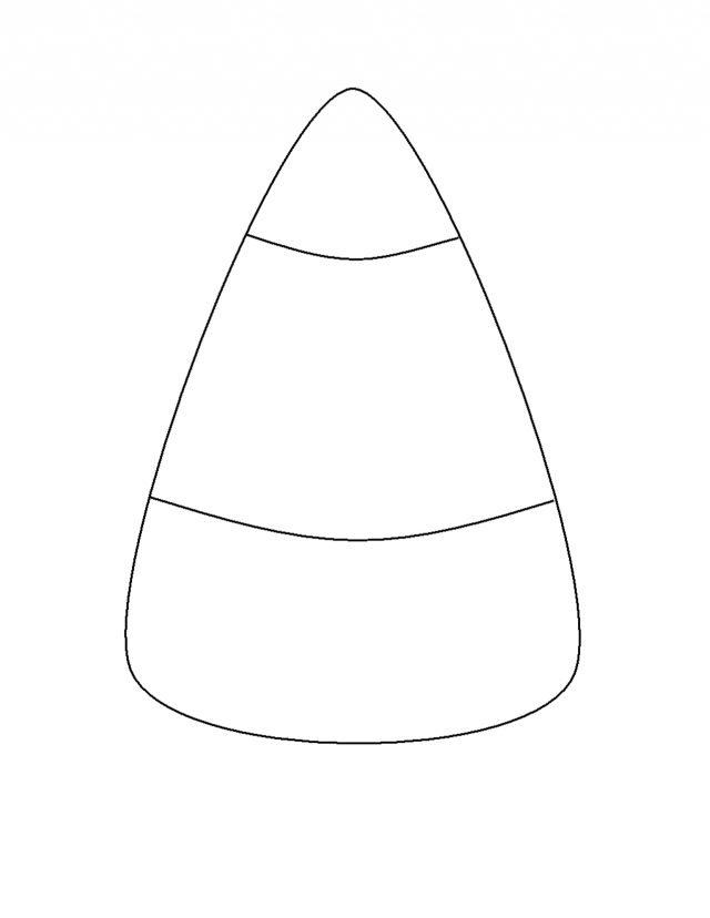 Halloween coloring pages for kids for Candy corn coloring pages