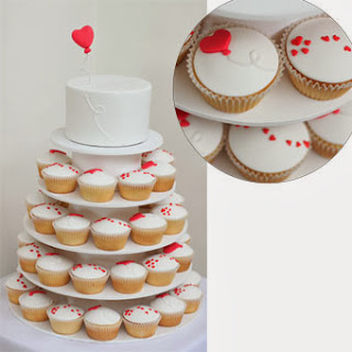 Charming Valentine's Wedding Cakes