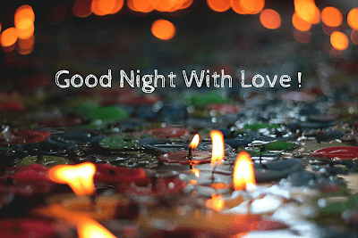 good night romantic Candle Images