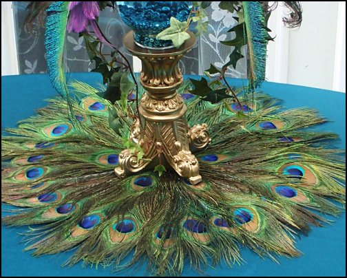 Peacock Feather  Placemat Peacock Feather  Centerpiece Decoration peacock themed decorations