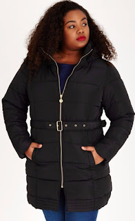 stylist plus size winter puffer jacket where to buy, plus size winter jacket blogger