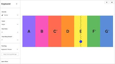 Interface del experimento de Google teclado
