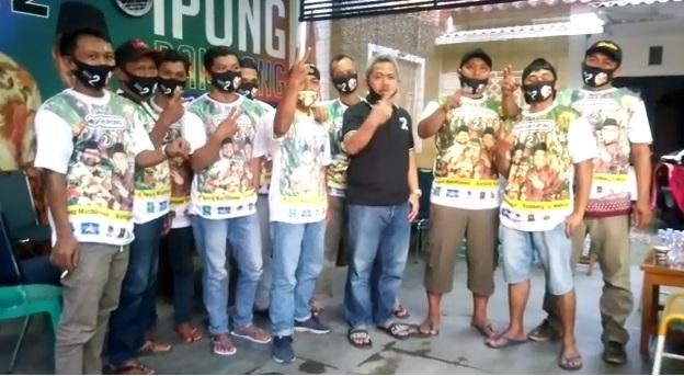 Paguyuban Pedagang Kaki Lima Adem Ayem Jalan Baru dan Alun-alun sepakat mendukung Ipong-Bambang