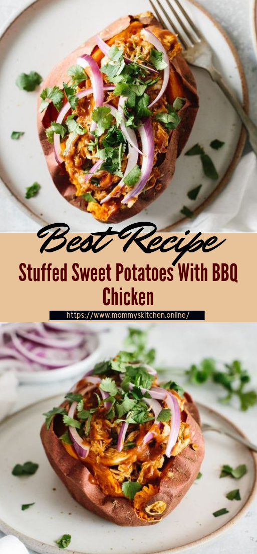 Stuffed Sweet Potatoes With BBQ Chicken #healthyfood #dietketo #breakfast #food