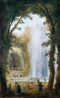 Hubert Robert : Jet d'eau du bosquet des muses, Marly © RMN-Grand Palais (Château de Versailles)