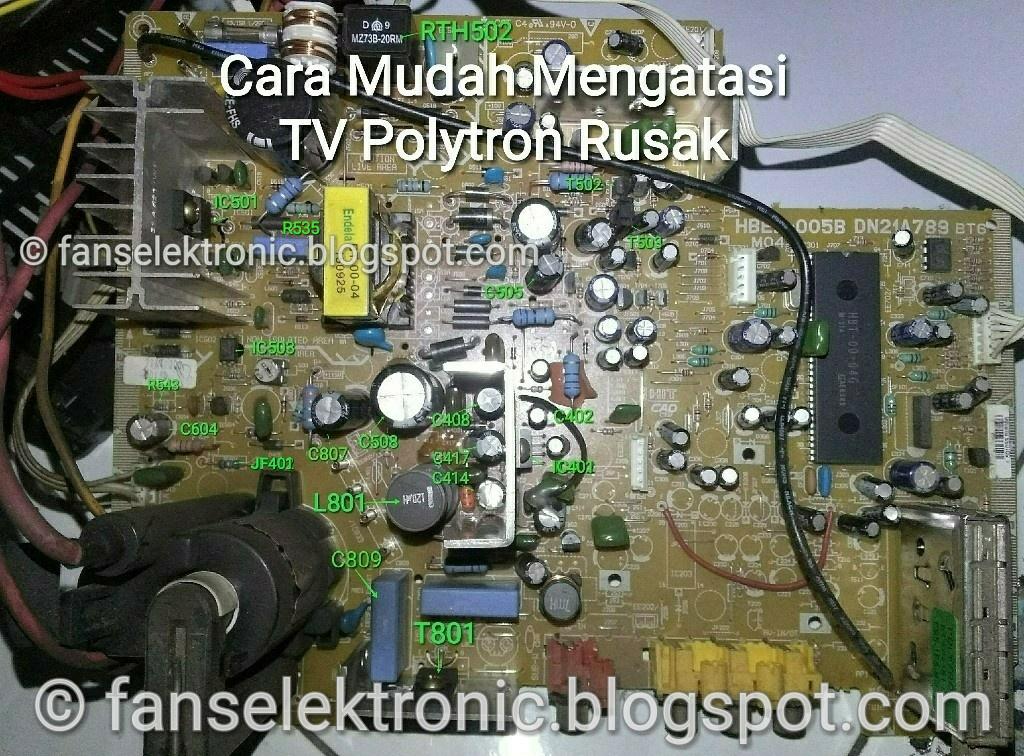 mengatasi tv polytron slim rusak