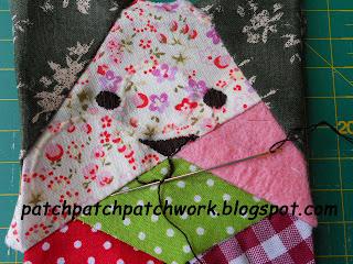 Cara del gato de patchwork