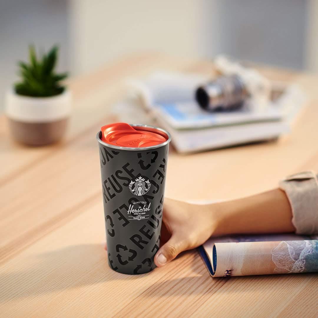 Starbucks® X Herschel Supply 16oz Stainless Steel Tumbler (RM 195)