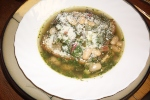 White Bean Soup with Cilantro Broth.