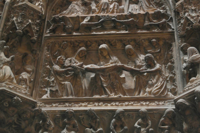 Biblical scene carving  Duomo Cathedral Milan, Italy