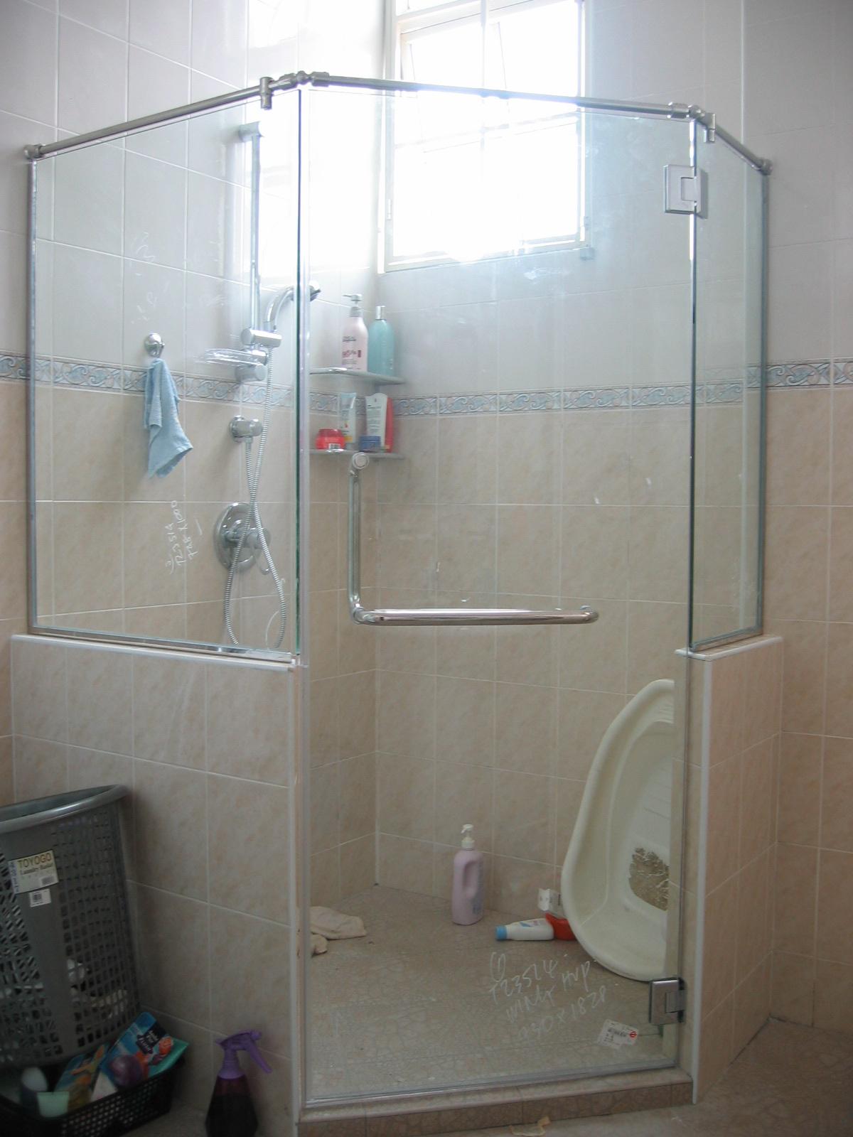 Shower Screen Penang 10mm Frameless Shower Screen