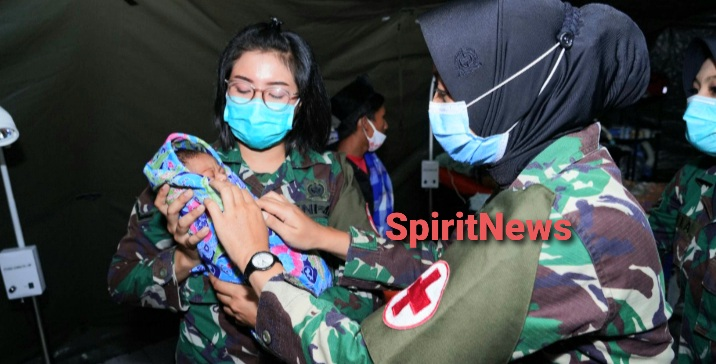 Operasi Caesar Berhasil Dilakukan di Rumah Sakit Lapangan TNI AD