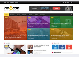 Newscon news responsive blogger templates