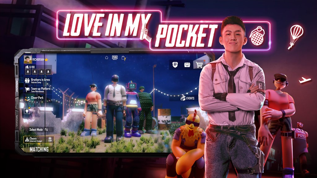 PUBG MOBILE ANNOUNCES AN EXCLUSIVE COLLABORATION WITH RICH BRIAN