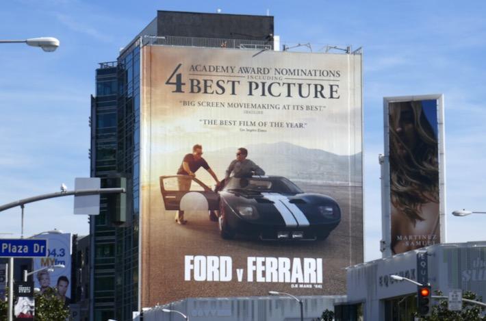 Ford v Ferrari Le Mans 66 Oscar billboard