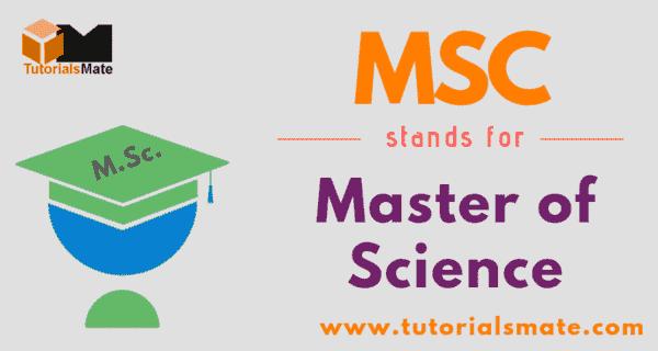 MSC Full Form