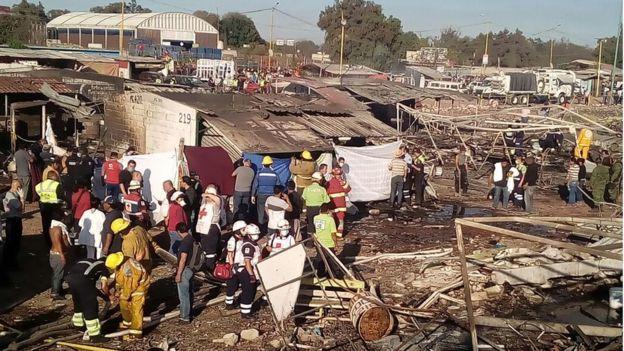 Mexico fireworks market blast kills at least 29, hurts scores