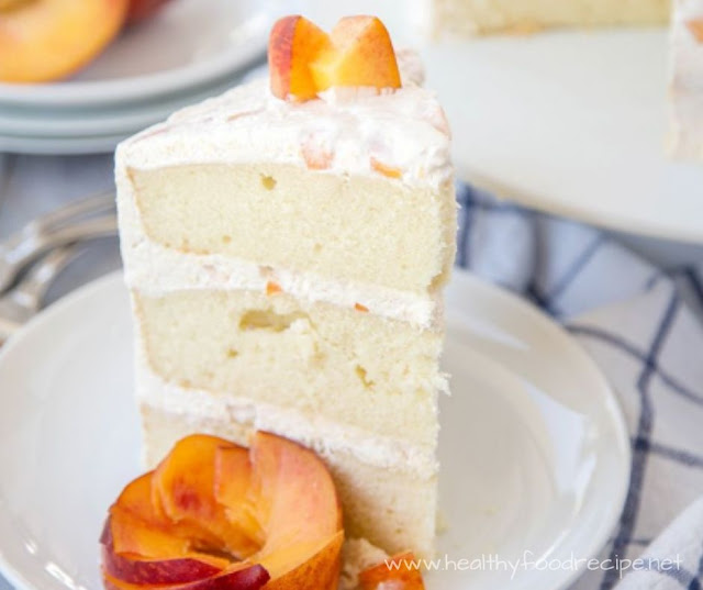 VANILLA PEACH LAYER CAKE