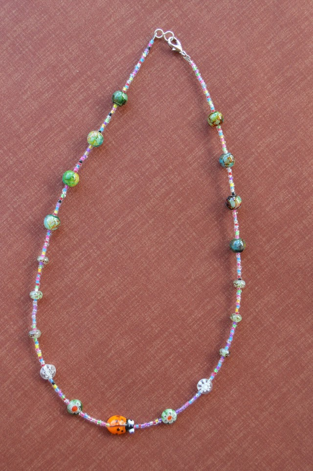 Colorful Handmade Bead Necklace