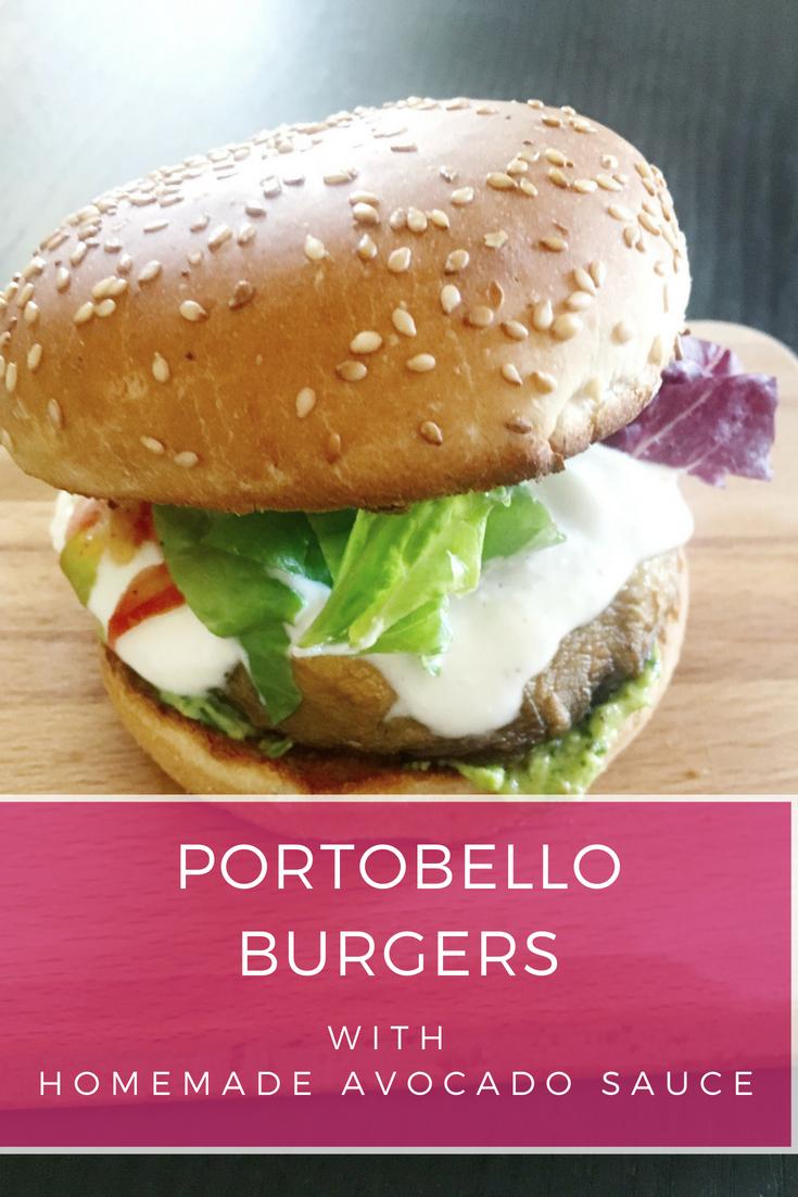 Mushroom Burgers with avocado sauce| Ioanna's Notebook