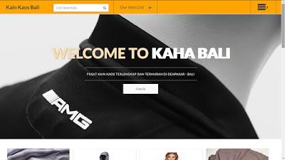 Website Toko Kain Bali
