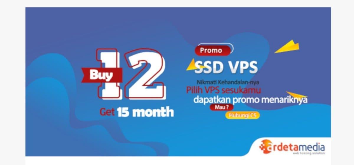 Promo ArdetaMedia Terbaru Beli VPS 12 Bulan Dapat 15 Bulan