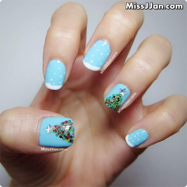 Christmas Nails Tutorial Youtube: MissJJan's Beauty Blog ♥: Christmas Tree Nails {Tutorial}