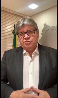 Em pronunciamento, João Azevêdo, fala sobre surto do Coronavírus na PB,