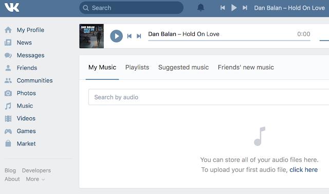 Загрузить музыку в VK.com