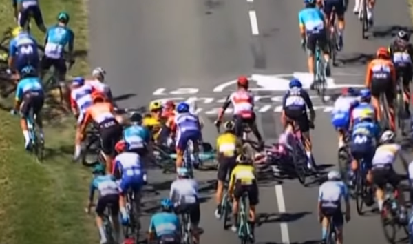 Tour de France Stage 10 crash, 9/8/2020