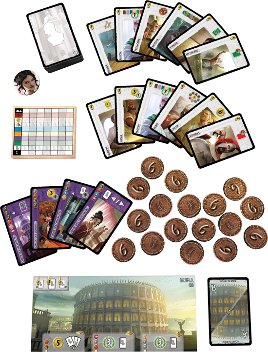 Componentes de 7 Wonders: Leaders