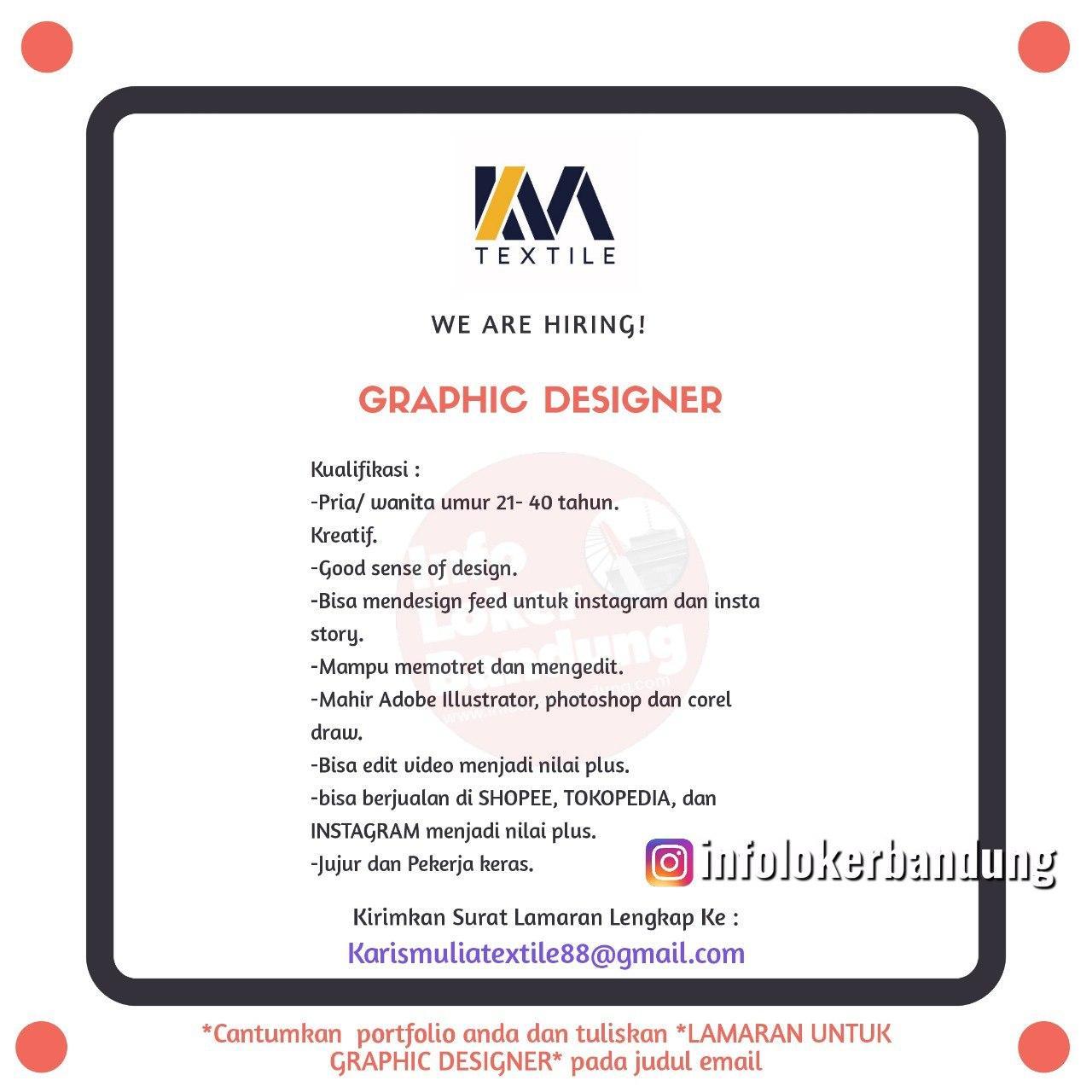 Lowongan Kerja Graphic Designer Karis Mulia Textile Bandung April 2020