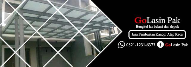 jasa pembuatan kanopi atap kaca tempered