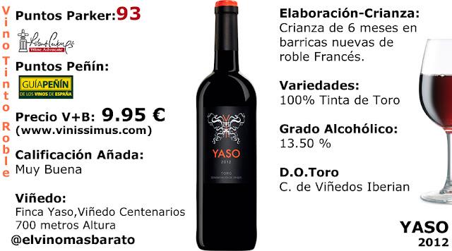 comprar vino tinto yaso 2012