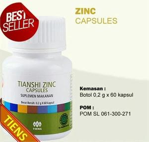Jual ZINC TIENS Herbal Nafsu Makan dan Penggemuk Badan.