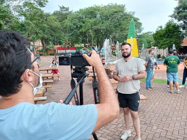 TV alemã grava atrações turísticas de Foz do Iguaçu